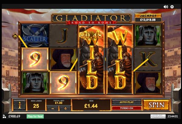 Gladiator: Road to Rome Machine à Sous Gratuit (25 Lignes) Playtech