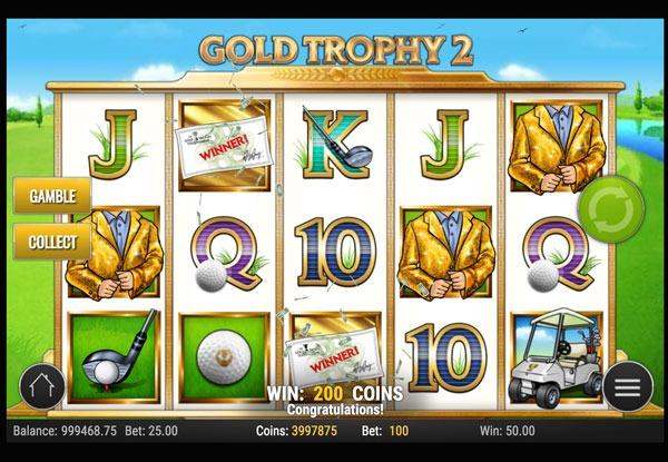 Gold Trophy 2 Machine à Sous Gratuit (20 Lignes) Play`n GO