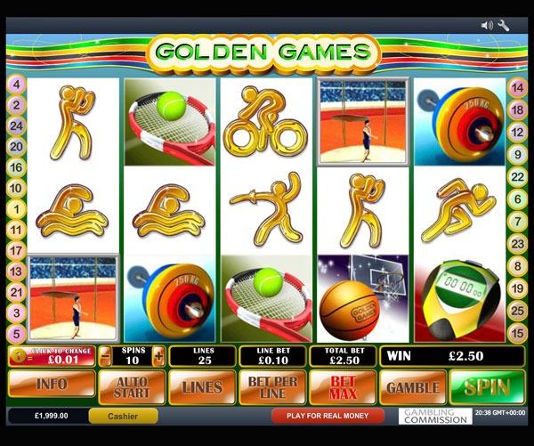 Golden Games Machine à Sous Gratuit (25 Lignes) Playtech