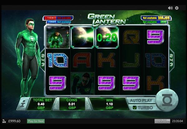 Green Lantern Machine à Sous Gratuit (243 Lignes) Playtech