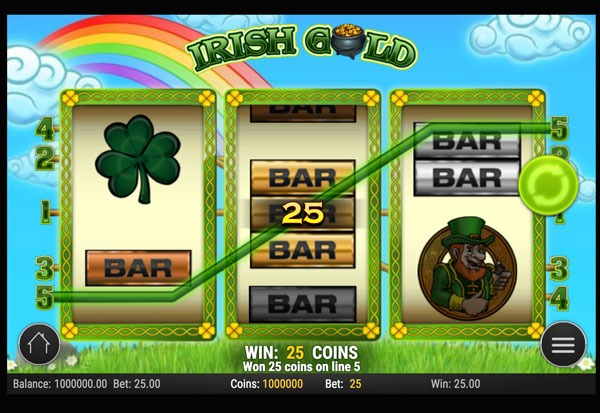 Irish Gold Machine à Sous Gratuit (5 Lignes) Play`n GO
