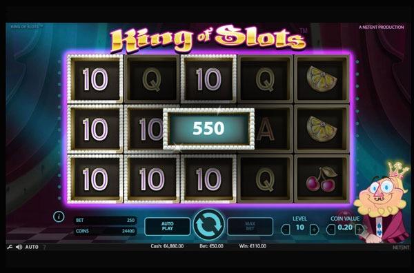 King of Slots Machine à Sous Gratuit (25 Lignes) Netent Sans Inscription