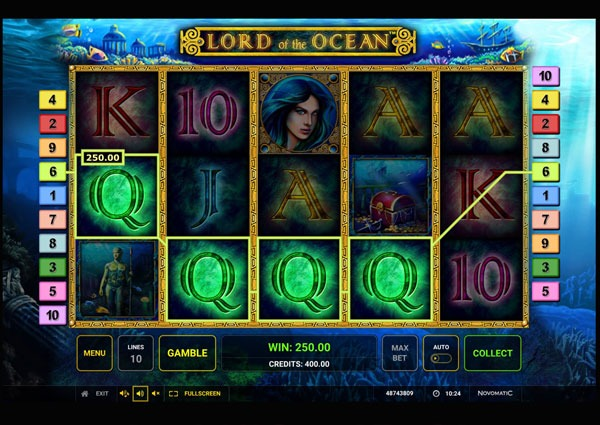 Lord of the Ocean Deluxe Machine à Sous Gratuit (10 Lignes) Novomatic