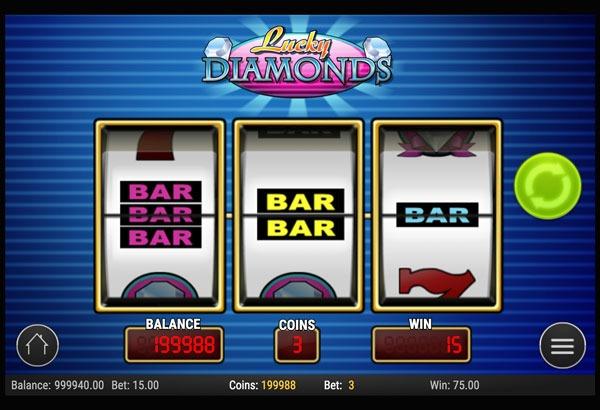 Lucky Diamonds Machine à Sous Gratuit (3 Rouleaux) Play`n GO