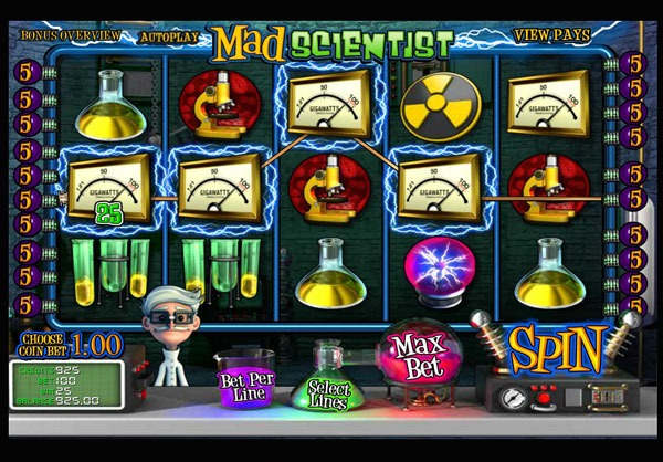 Mad Scientist Machine à Sous Gratuit (20 Lignes) Betsoft