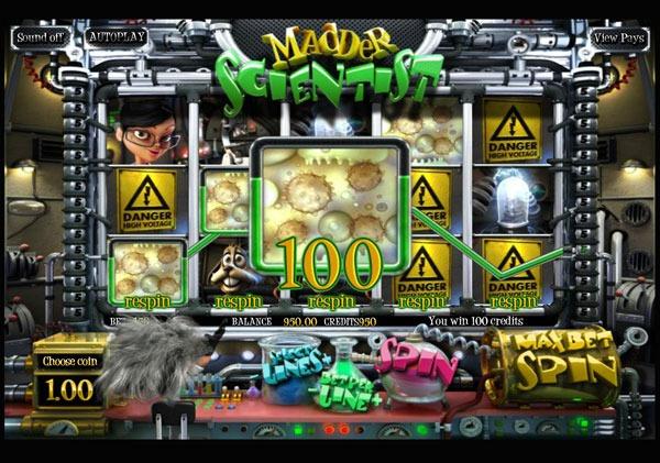 Madder Scientist Machine à Sous Gratuit (30 Lignes) Betsoft