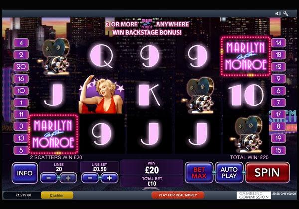 Marilyn Monroe Machine à Sous Gratuit (20 Lignes) Playtech