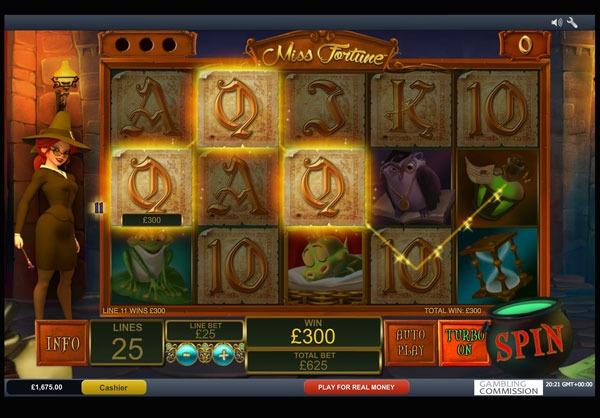 Miss Fortune Machine à Sous Gratuit (25 Lignes) Playtech Sans Inscription
