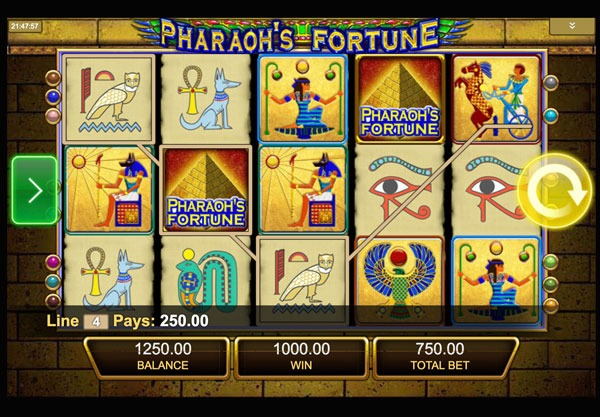Pharaohs Fortune Machine à Sous Gratuit (15 Lignes) IGT Sans Inscription