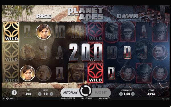 Planet of the Apes Machine à Sous Gratuit (40 Lignes) Netent
