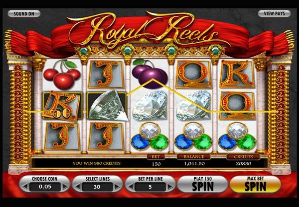 Royal Reels Machine à Sous Gratuit (30 Lignes) Betsoft