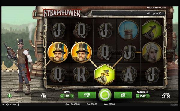 Steam Tower Machine à Sous Gratuit (15 Lignes) Netent