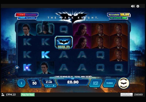 The Dark Knight Machine à Sous Gratuit (50 Lignes) Playtech