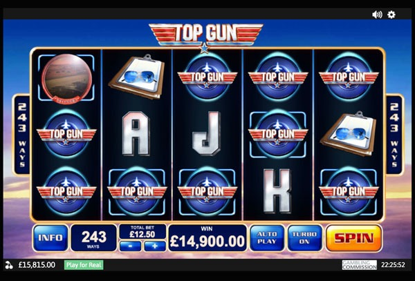 Top Gun Machine à Sous Gratuit (243 Lignes) Playtech