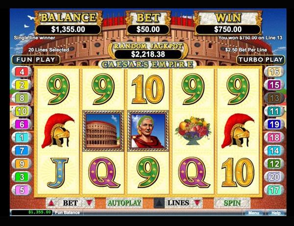 Caesars Empire Machine à Sous Gratuit (20 Lignes) RTG Sans Inscription