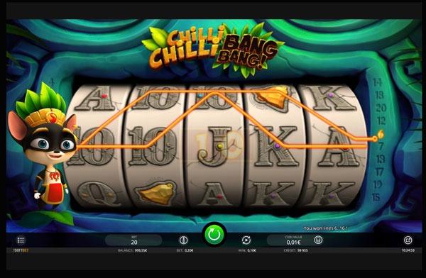 Chilli Chilli Bang Bang Machine à Sous Gratuit (20 Lignes) Isoftbet