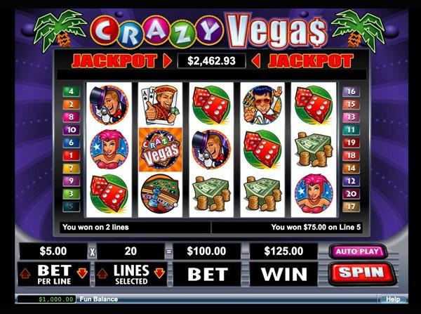 Crazy Vegas Machine à Sous Gratuit (20 Lignes) RTG Sans Inscription