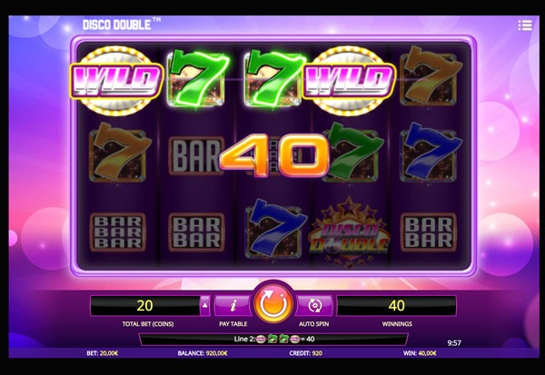 Disco Double Machine à Sous Gratuit (20 Lignes) Isoftbet Sans Inscription