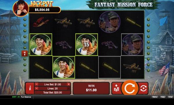 Fantasy Mission Force Machine à Sous Gratuit (20 Lignes) RTG