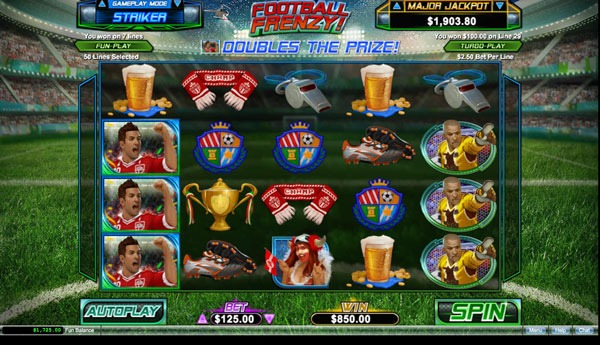 Football Frenzy Machine à Sous Gratuit (50 Lignes) RTG Sans Inscription