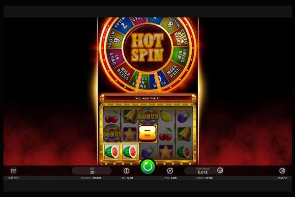 Hot Spin Machine à Sous Gratuit (20 Lignes) Isoftbet