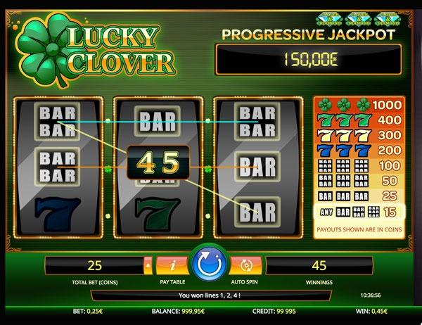 Lucky Clover Machine à Sous Gratuit (3 Lignes) Isoftbet
