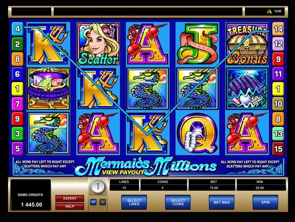 Mermaids Millions Machine à Sous Gratuit (15 Lignes) Microgaming