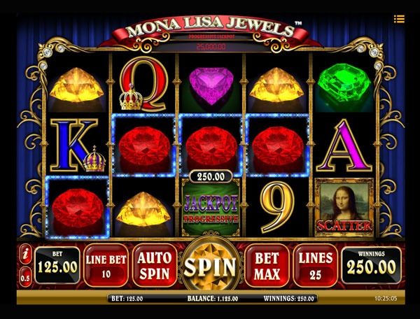 Mona Lisa Jewels Machine à Sous Gratuit (25 Lignes) Isoftbet