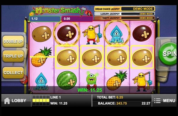 Monster Smash Machine à Sous Gratuit (5 Lignes) Play`n GO
