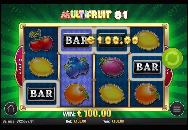 Multifruit 81 Machine à Sous Gratuit (81 Lignes) Play`n Go