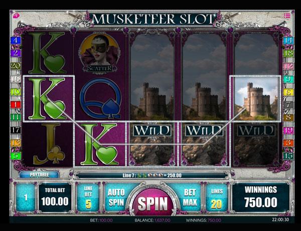 Musketeer Slot Machine à Sous Gratuit (20 Lignes) Isoftbet