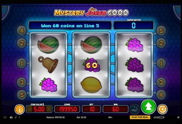 Mystery Joker 6000 Machine à Sous Gratuit (5 Lignes) Play`n GO