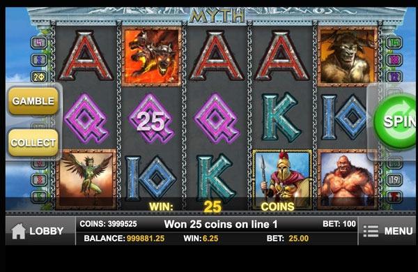 Myth Machine à Sous Gratuit (20 Lignes) Play`n GO Sans Inscription