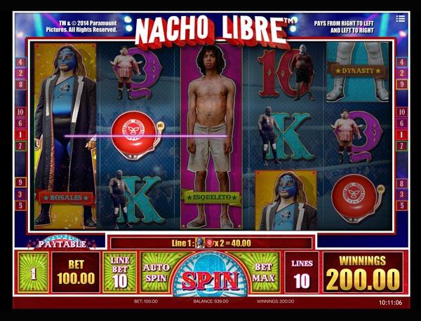 Nacho Libre Machine à Sous Gratuit (10 Lignes) Isoftbet