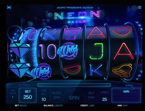 Neon Reels Machine à Sous Gratuit (25 Lignes) Isoftbet