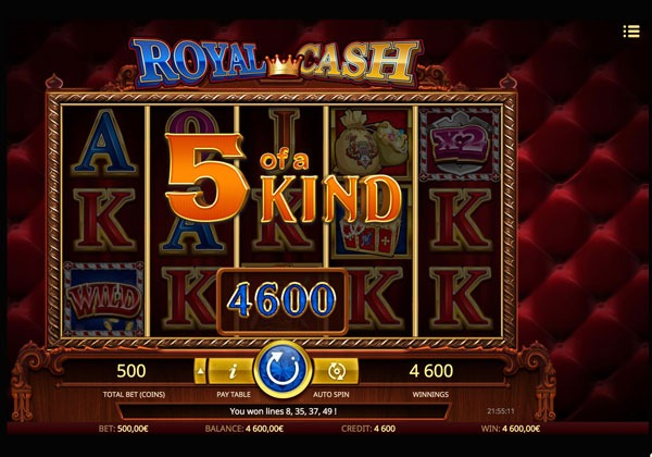 Royal Cash Machine à Sous Gratuit (50 Lignes) Isoftbet