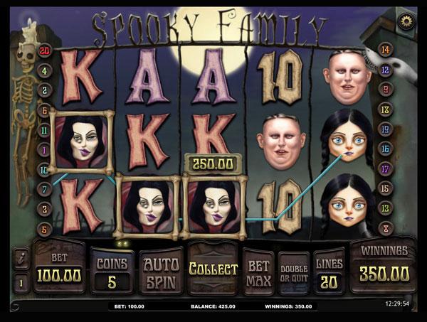 Spooky Family Machine à Sous Gratuit (20 Lignes) Isoftbet