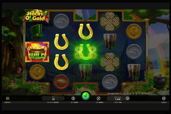 Stacks O' Gold Machine à Sous Gratuit (34 Lignes) Isoftbet