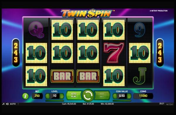 Twin Spin Machine à Sous Gratuit (243 Lignes) Netent Sans Inscription