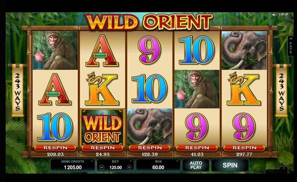 Wild Orient Machine à Sous Gratuit (243 Lignes) Microgaming