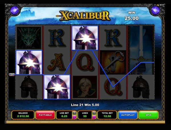 Xcalibur Machine à Sous Gratuit (50 Lignes) Microgaming Sans Inscription