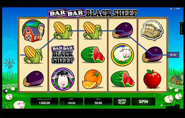 Bar Bar Black Sheep 5 Reel Machine à Sous Gratuit (15 Lignes)