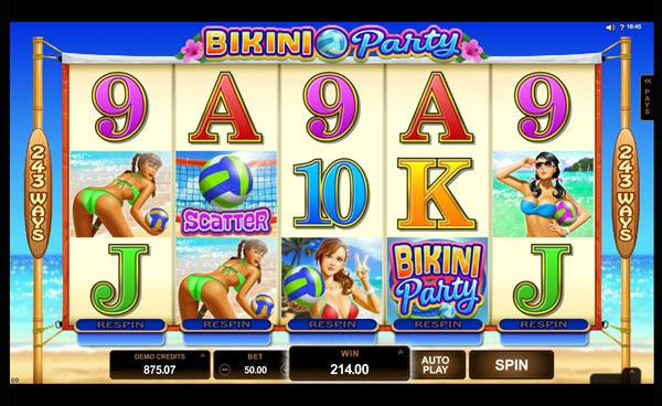 Bikini Party Machine à Sous Gratuit (243 Lignes) Microgaming