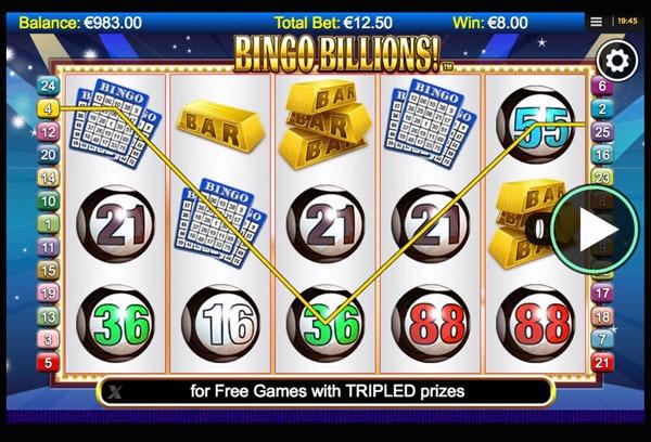 Bingo Billions Machine à Sous Gratuit (25 Lignes) Nextgen