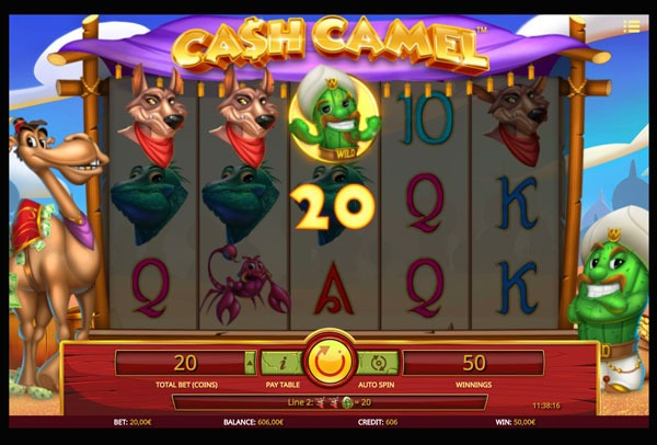 Cash Camel Machine à Sous Gratuit (20 Lignes) Isoftbet