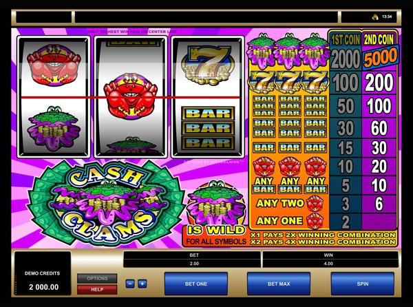 Cash Clams Machine à Sous Gratuit (3 Rouleaux) Microgaming