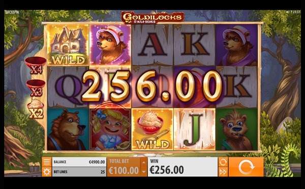 Goldilocks And The Wild Bears Machine à Sous Gratuit (25 Lignes) Quickspin