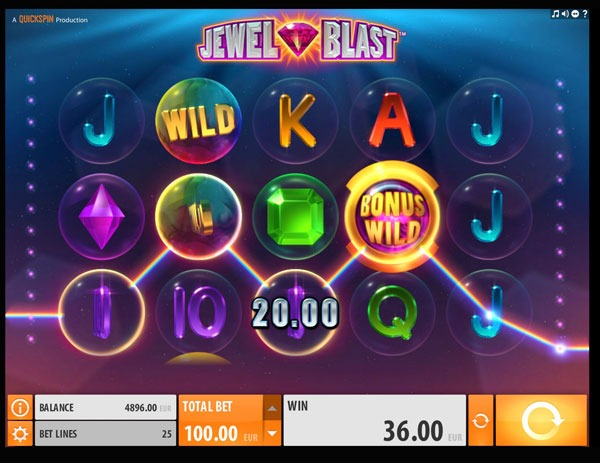 Jewel Blast Machine à Sous Gratuit (25 Lignes) Quickspin