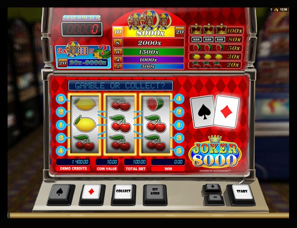 Joker 8000 Machine à Sous Gratuit (3 Rouleux) Microgaming