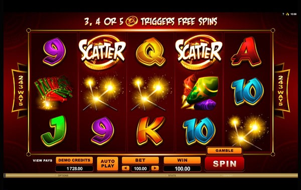 Lucky Firecracker Machine à Sous Gratuit (243 Lignes) Microgaming